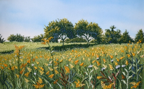 Trees in a Field of Golden Rods - Eve Botelho